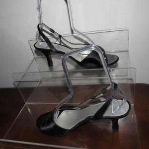 LIZ CLAIBORNE  Massey Black Satin Dress Shoes 10M